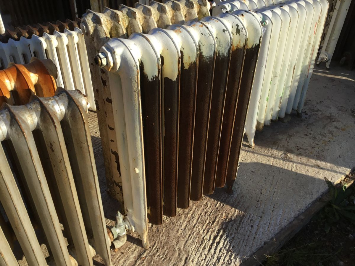 Partially Painted Reclaimed Princess Radiator