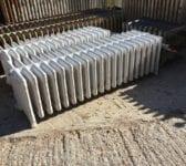 9 Bar White Painted Reclaimed Radiator