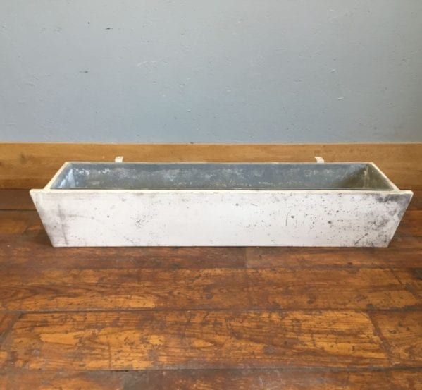 Rectangular Metal Lined Wooden Trough