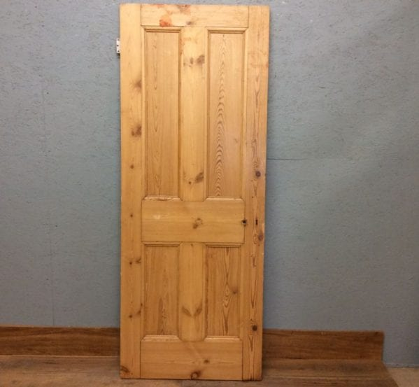 stripped Glossy 4 Panelled Door