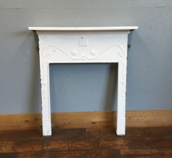 White Metal Fire Surround