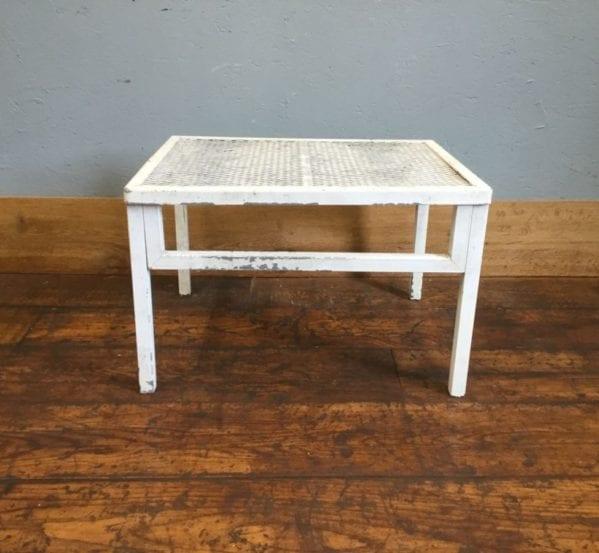 White Metal Mesh Top Table