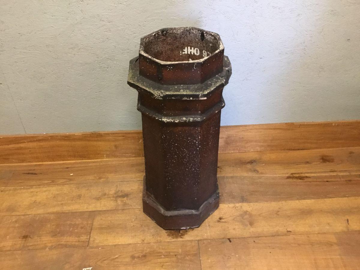 Octagonal Dark Reclaimed Chimney Pot