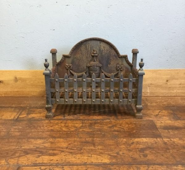 Cast Iron Fire Basket & Urn Fire Back