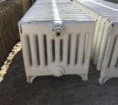 White Painted 9 Bar Reclaimed Radiator
