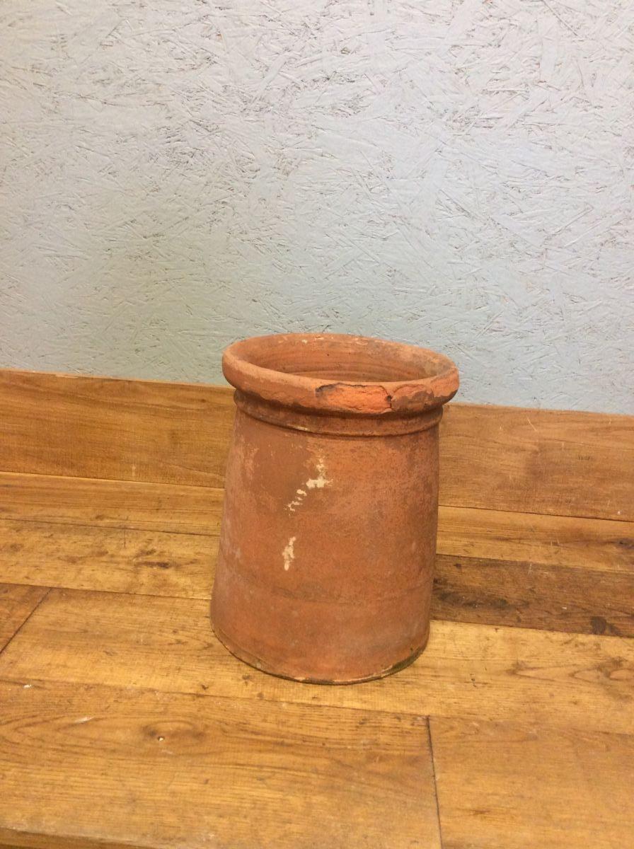 Short Terracotta Cannon Head Chimney Pot