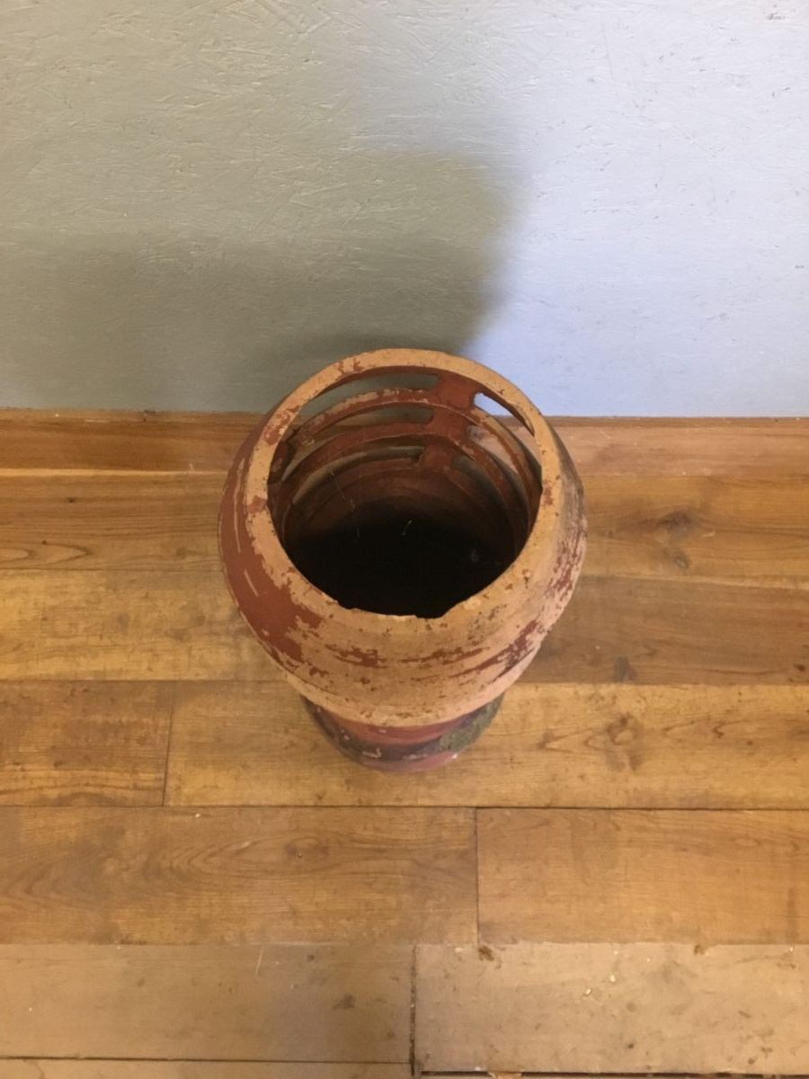 Mottled Terracotta Louvred Chimney Pot