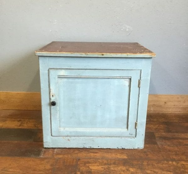 Blue Painted Square Cabinet