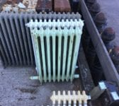 Green Reclaimed 4 Bar Radiator