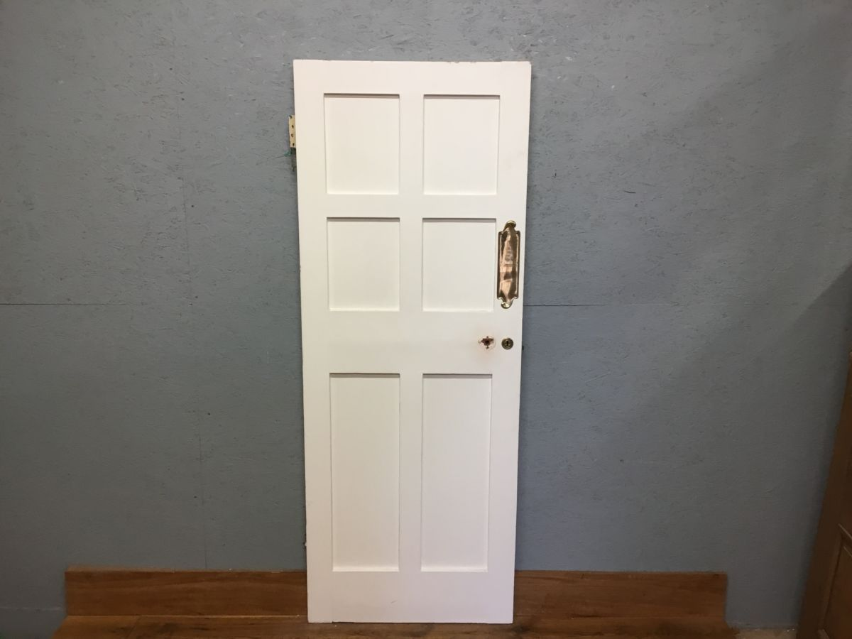 White 6 Panelled Internal Reclaimed Painted Door