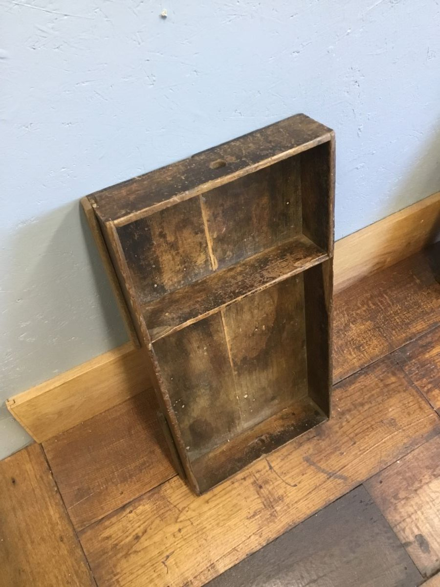Two Section Wooden Drawer Tray