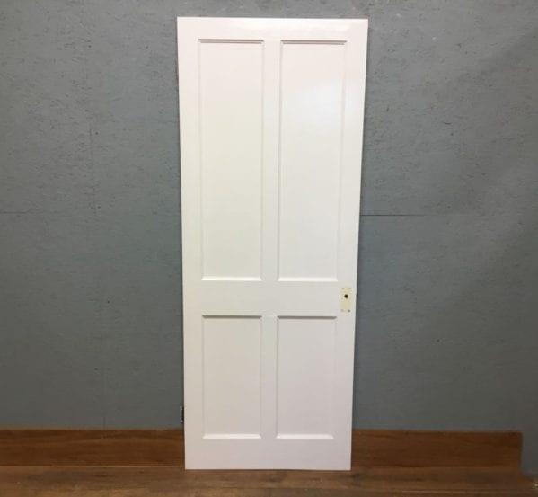 Reclaimed White Painted Beaded 4 Panel Door
