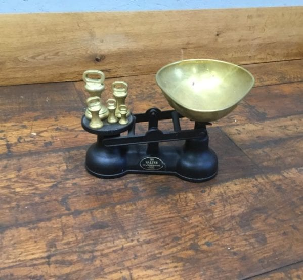 Salter Cast Iron & Brass Weight Scales