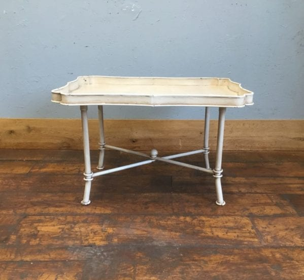 Bracket Shaped White Metal Table