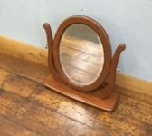 Oval Mirror On Swivel Stand