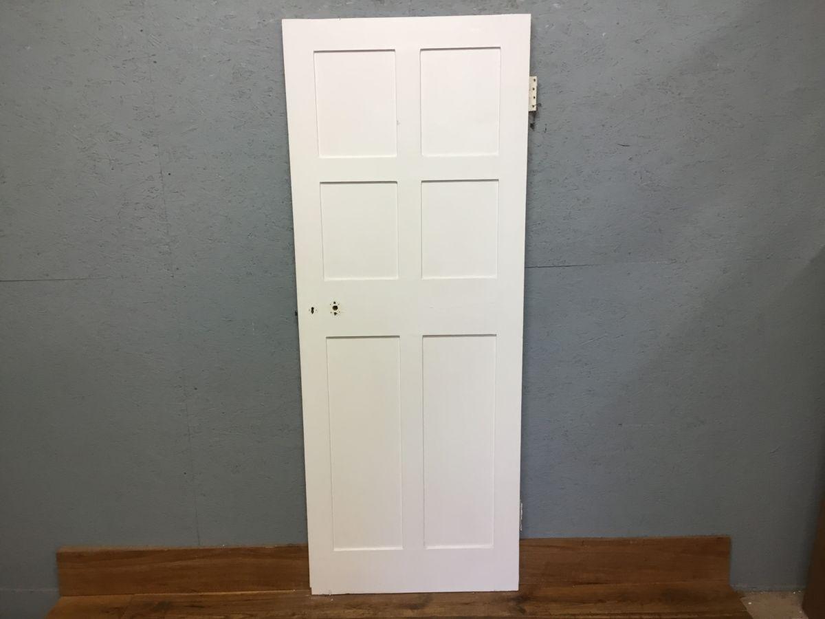 White Reclaimed Internal 6 Panel Door