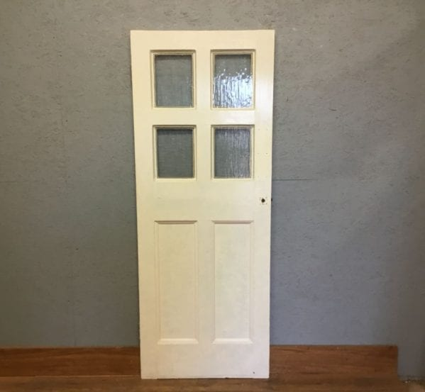 Reclaimed 6 Panel Half Glazed Door