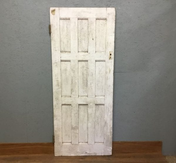 Reclaimed White Painted 9 Panel Door