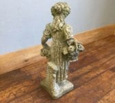 Reconstituted Stone Girl & Flowers Statue