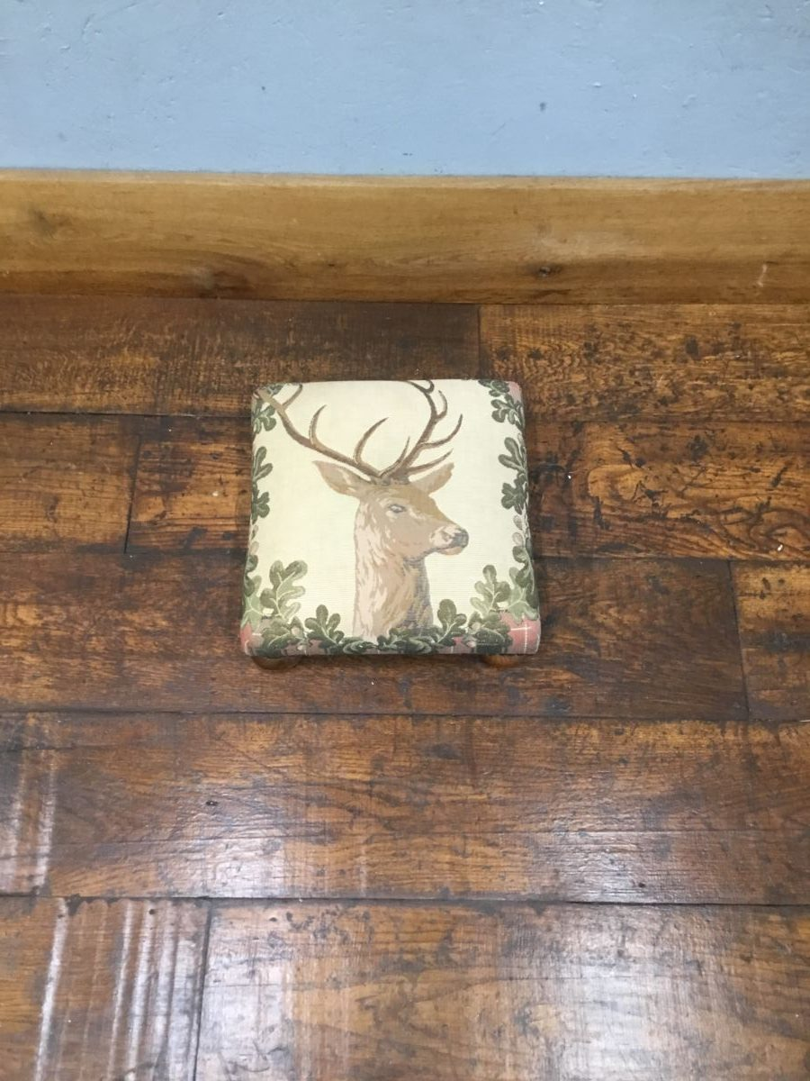 Small Deer Print Footstool