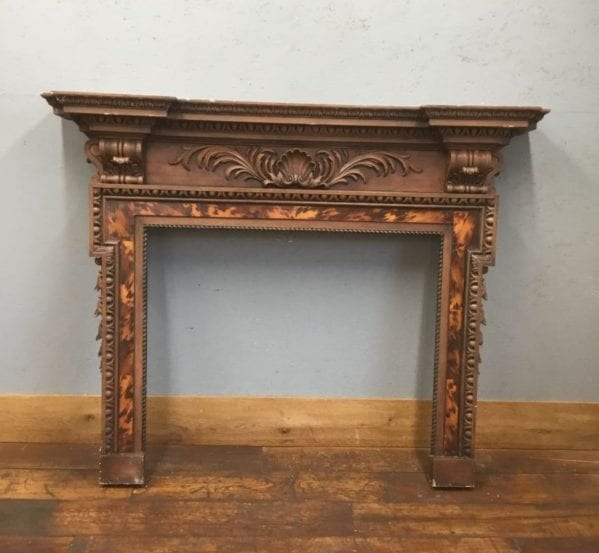 Tortoise Shell Wooden Fire Surround