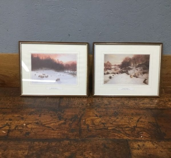 Winter Sheep Scene Prints