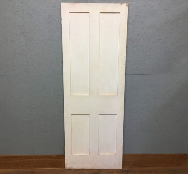 Reclaimed White Painted 4 Panel Door