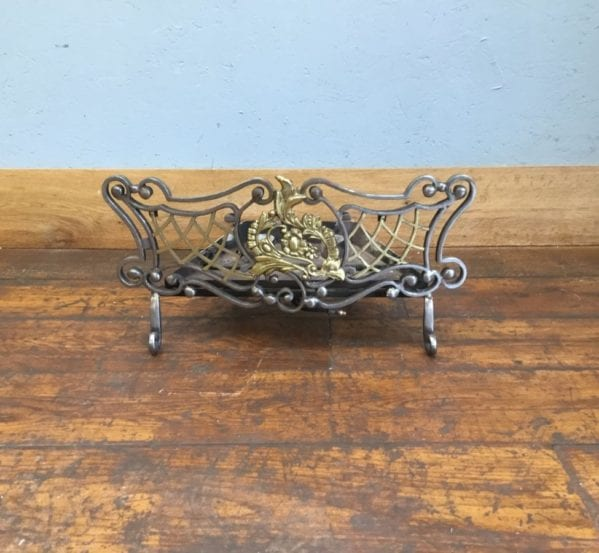 Intricate Brass & Cast Iron Fire Basket
