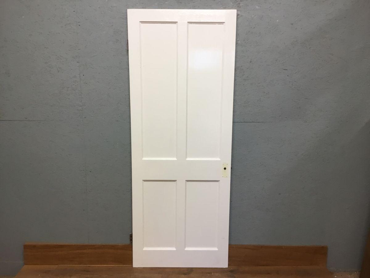 Beaded Reclaimed White Painted 4 Panel Door