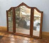 Large Dark Wood Folding Mirror