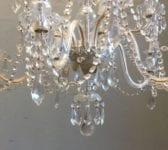 Reclaimed Ornate Glass Chandelier