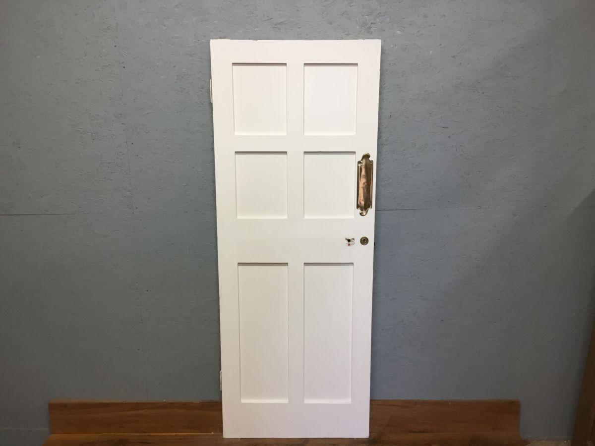6 Panelled White Reclaimed Internal Door