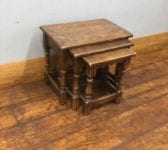 Nest of Three Oak Tables
