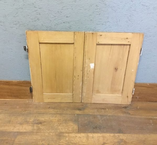 Reclaimed Small Stripped Cupboard Door Pair