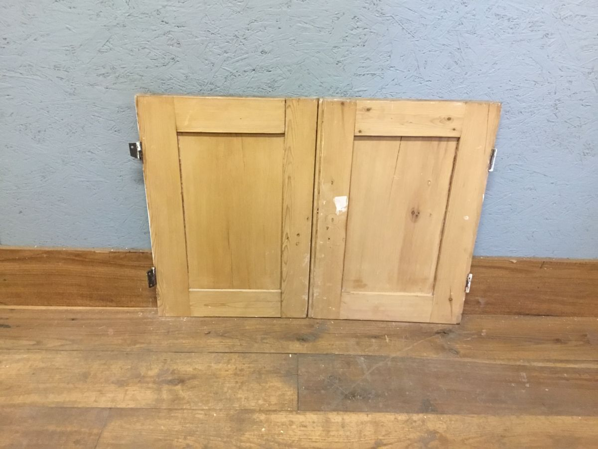 Reclaimed Small Stripped Cupboard Door Pair