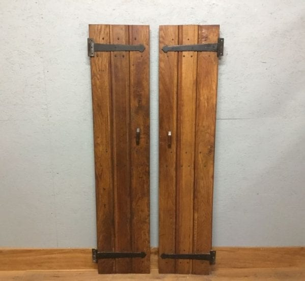Complementary Reclaimed Oak Ledge And Brace Cupboard Doors