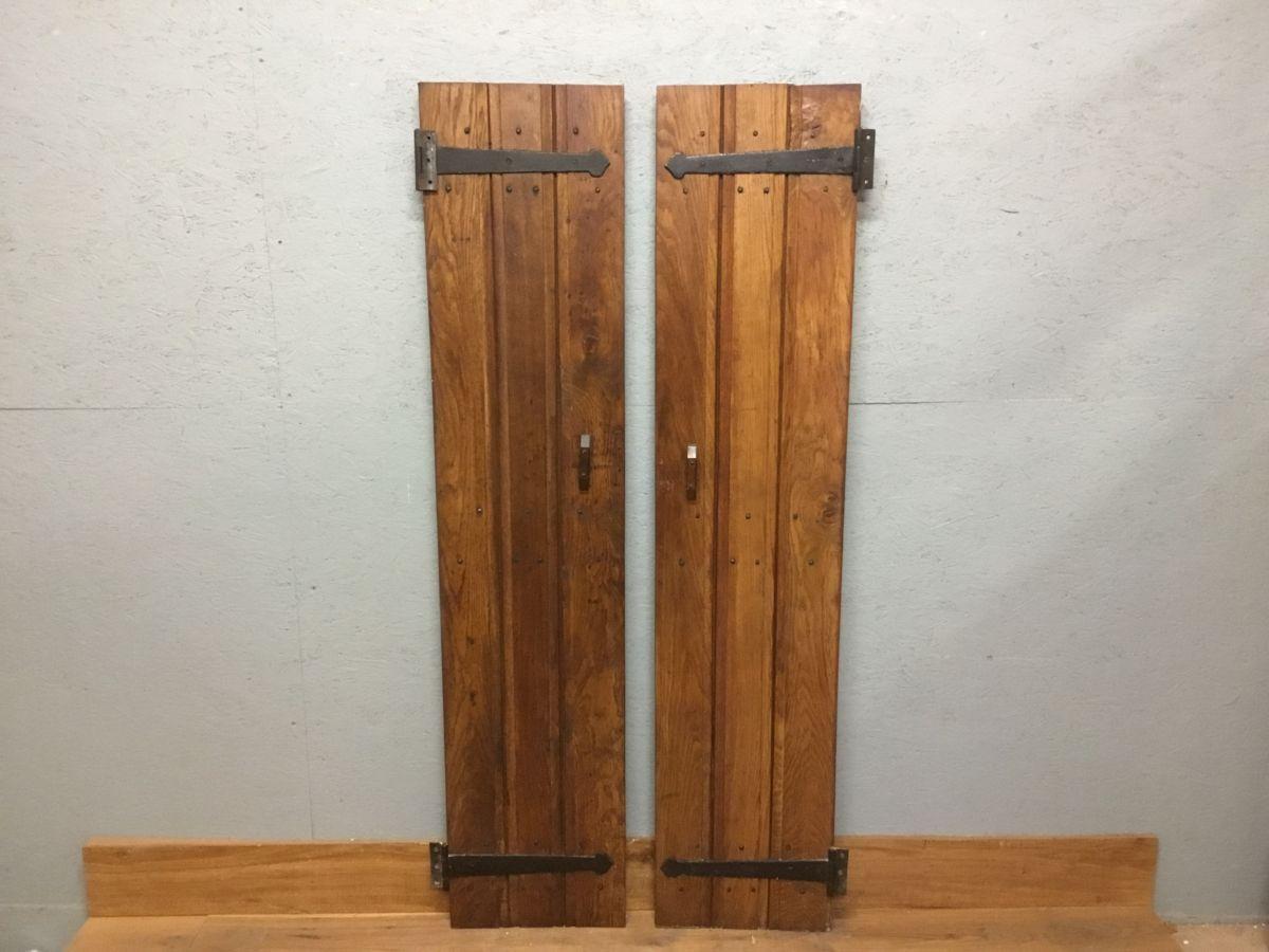 Complementary Reclaimed Oak Ledge And Brace Cupboard Doors