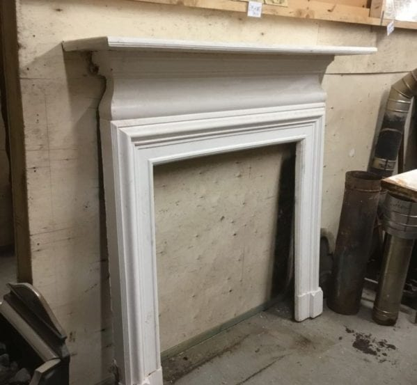 White Painted Cast Iron Fire Surround