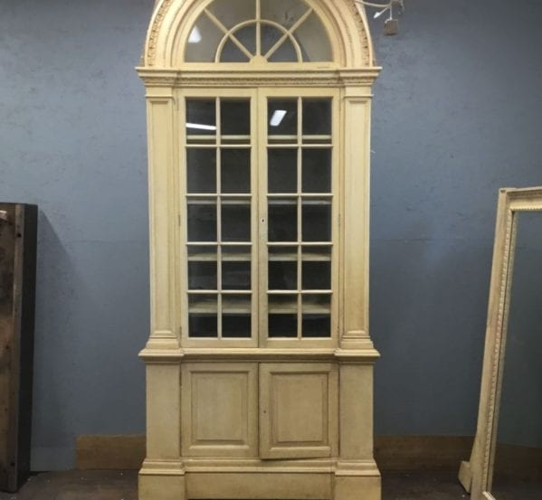 Very Large Wooden Cabinet & Glazed Doors