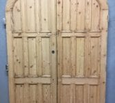 Beautiful Reclaimed Arched Pine Double Doors