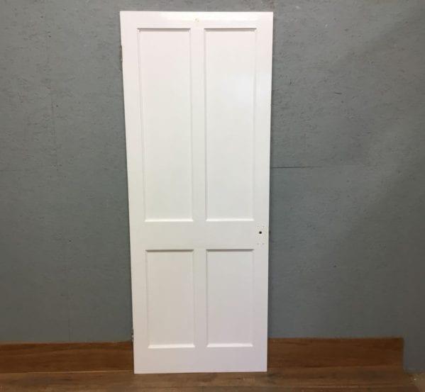 Beaded Reclaimed 4 Panel White Painted Door