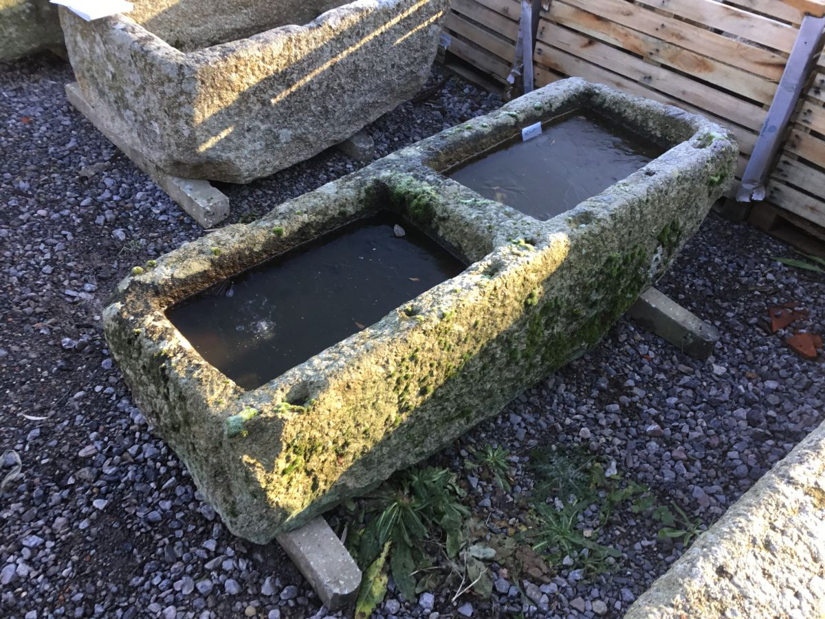 Reclaimed Double Cornish Granite Trough