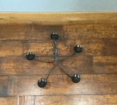 Wrought Iron Five Armed Hanging Candle Holder