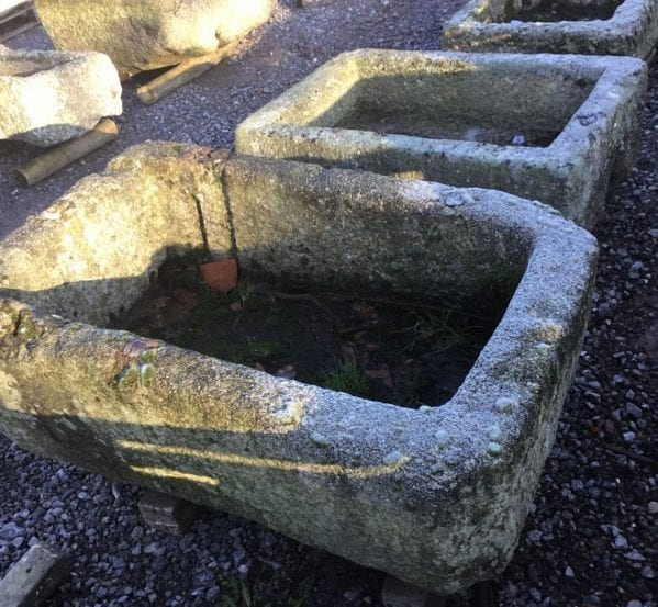 Rectangular Reclaimed Cornish Granite Trough
