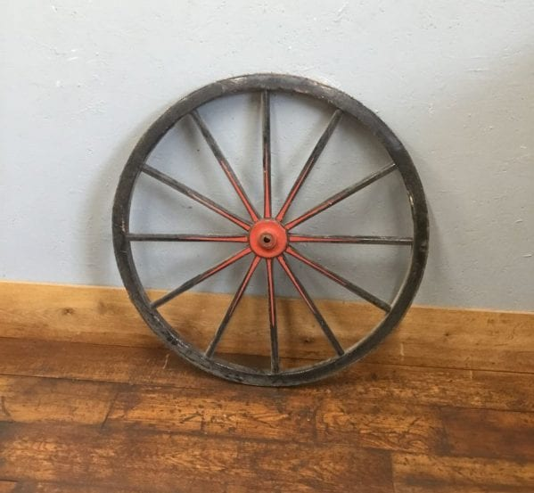 Black & Red Garden Feature Wheel