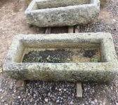 Reclaimed Narrow Cornish Granite Trough