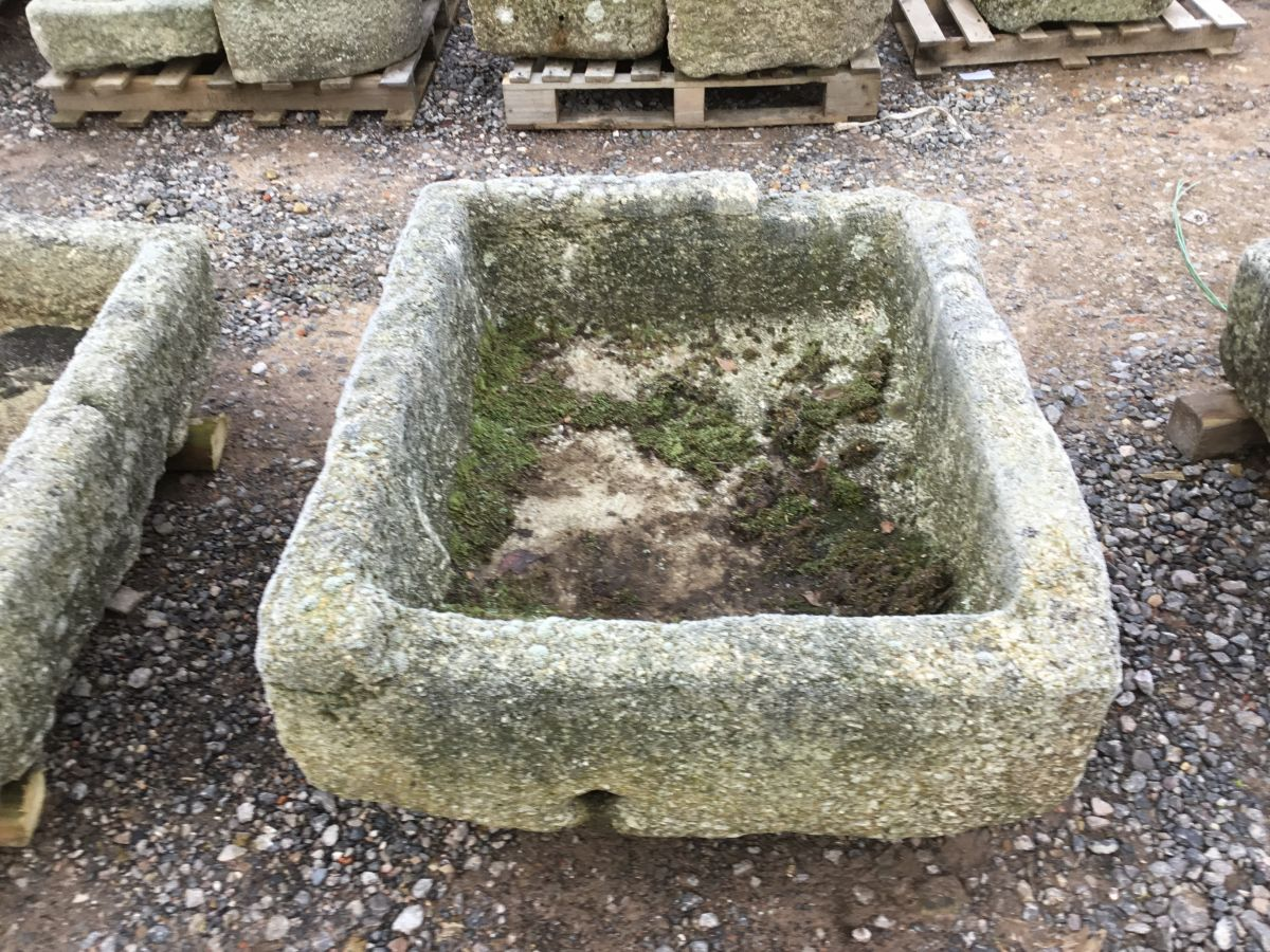 Reclaimed Cornish Granite Square Trough