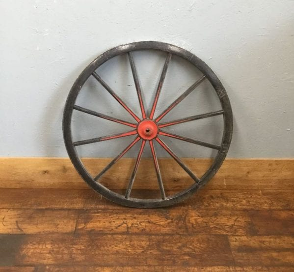 Wooden Black Wheel Red Detail