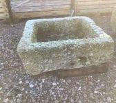 Small Square Cornish Granite Trough