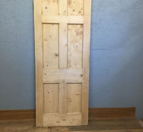 Stripped Reclaimed 6 Panel Pine Door